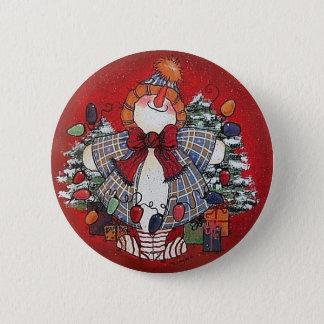 I Love Christmas Button Pin