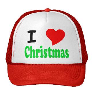 I Love Christmas Cap