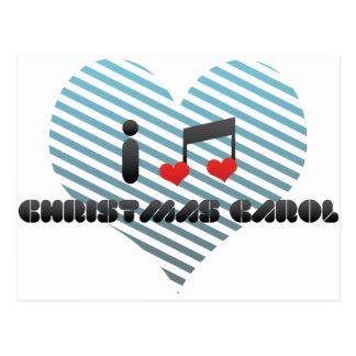 I Love Christmas Carol Postcard