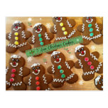 I Love Christmas Cookies - Colourful Gingerbread Postcard