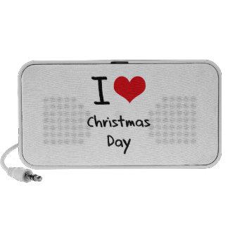 I love Christmas Day iPod Speaker