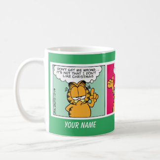 """""""I Love Christmas"""" Garfield Comic Strip Mug"""