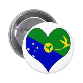 I Love Christmas Island Pinback Buttons