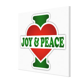 I Love Christmas Joy And Peace Canvas Print