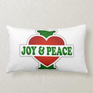 I Love Christmas Joy And Peace Cushion