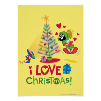 I Love Christmas - MARVIN THE MARTIAN™ Poster