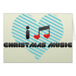 I Love Christmas Music Card