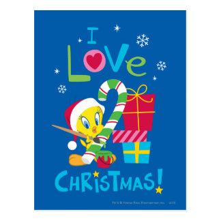 I Love Christmas - TWEETY™ Postcard