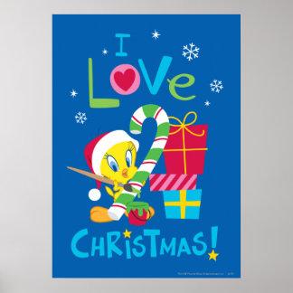 I Love Christmas - TWEETY™ Poster