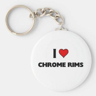 I love chrome rims keychains