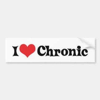 I Love Chronic Bumper Sticker