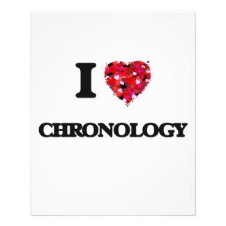 I love Chronology 11.5 Cm X 14 Cm Flyer