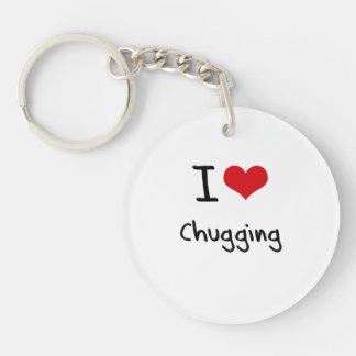 I love Chugging Single-Sided Round Acrylic Key Ring