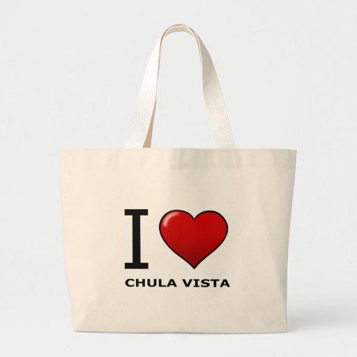 I LOVE CHULA VISTA,CA - CALIFORNIA CANVAS BAGS