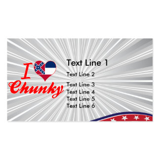 I Love Chunky, Mississippi Business Card Templates