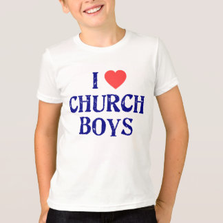 I Love church boys T-Shirt