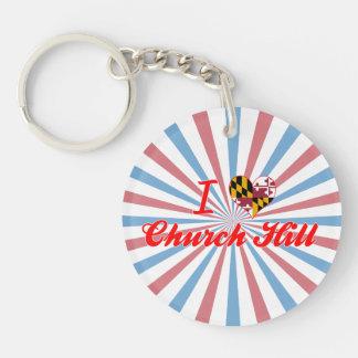 I Love Church Hill, Maryland Key Chains