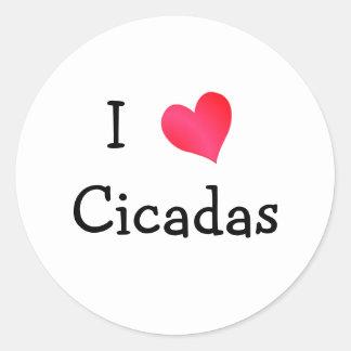 I Love Cicadas Classic Round Sticker