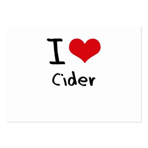 I love Cider Business Card