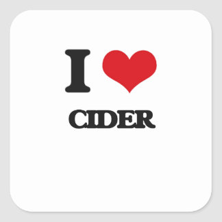 I love Cider Square Sticker