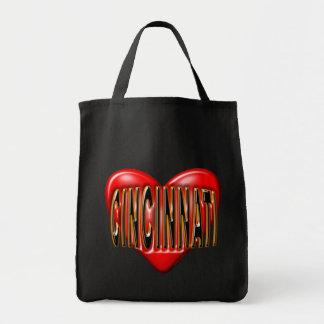 I Love Cincinnati Grocery Tote Bag