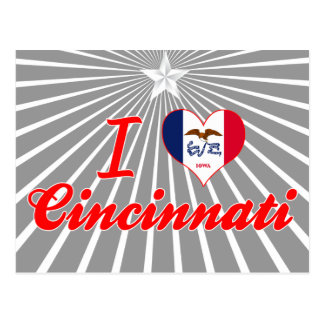 I Love Cincinnati, Iowa Postcard