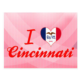I Love Cincinnati, Iowa Post Card