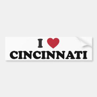 I love Cincinnati Ohio Bumper Sticker