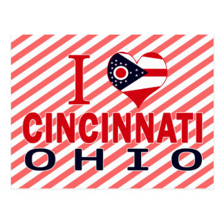 I love Cincinnati, Ohio Postcard