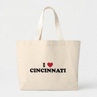 I love Cincinnati Ohio Jumbo Tote Bag
