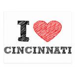 I Love Cincinnati Post Card