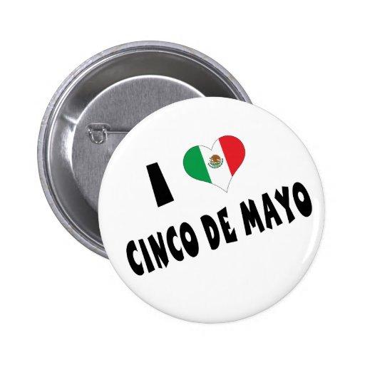 I Love Cinco de Mayo 6 Cm Round Badge