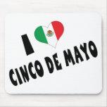I Love Cinco de Mayo Mousepads