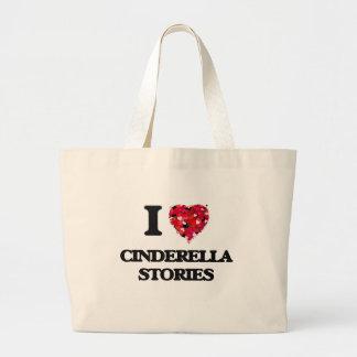I love Cinderella Stories Jumbo Tote Bag