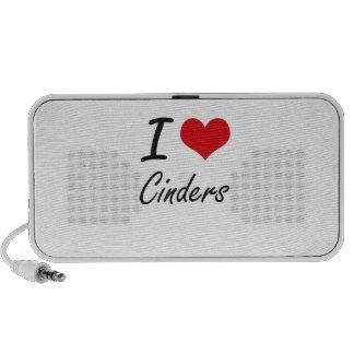 I love Cinders Artistic Design Mp3 Speakers