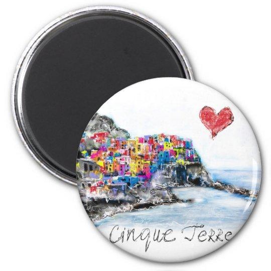 I love cinque terre magnet
