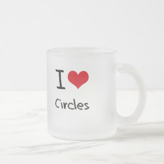 I love Circles Frosted Glass Coffee Mug