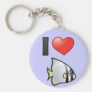 I Love Circular Batfish Key Ring