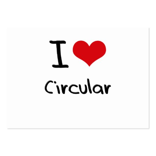 I love Circular Business Card Template