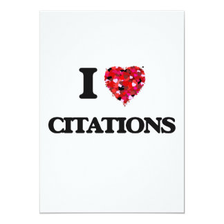 I love Citations 13 Cm X 18 Cm Invitation Card