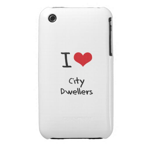 I Love City Dwellers iPhone 3 Cases