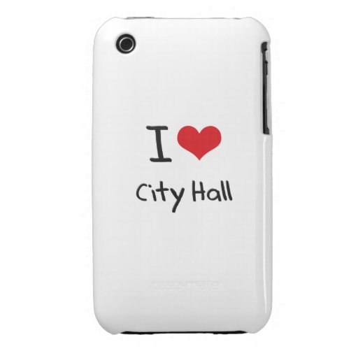 I love City Hall iPhone 3 Covers