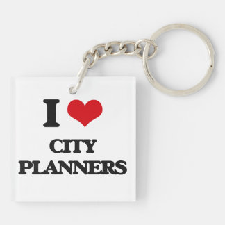 I love City Planners Acrylic Keychains