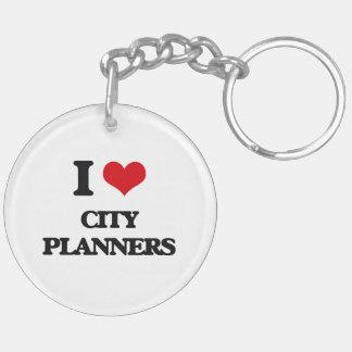 I love City Planners Acrylic Keychain