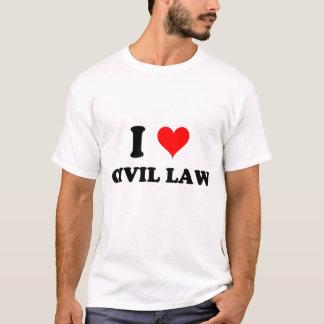 I Love Civil Law T-Shirt