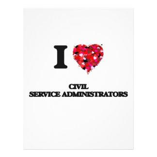 I love Civil Service Administrators 21.5 Cm X 28 Cm Flyer