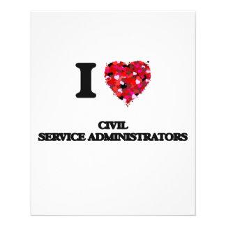 I love Civil Service Administrators 11.5 Cm X 14 Cm Flyer