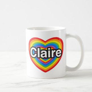 I love Claire. I love you Claire. Heart Basic White Mug
