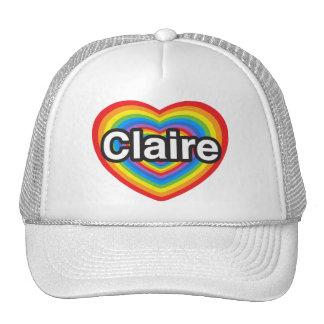 I love Claire. I love you Claire. Heart Cap