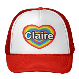 I love Claire. I love you Claire. Heart Hats